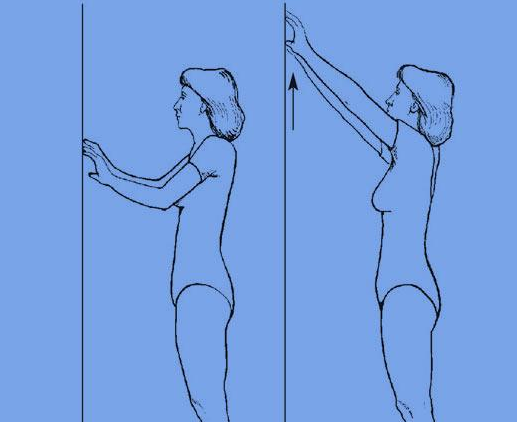 Ходьба по стене (двумя руками)