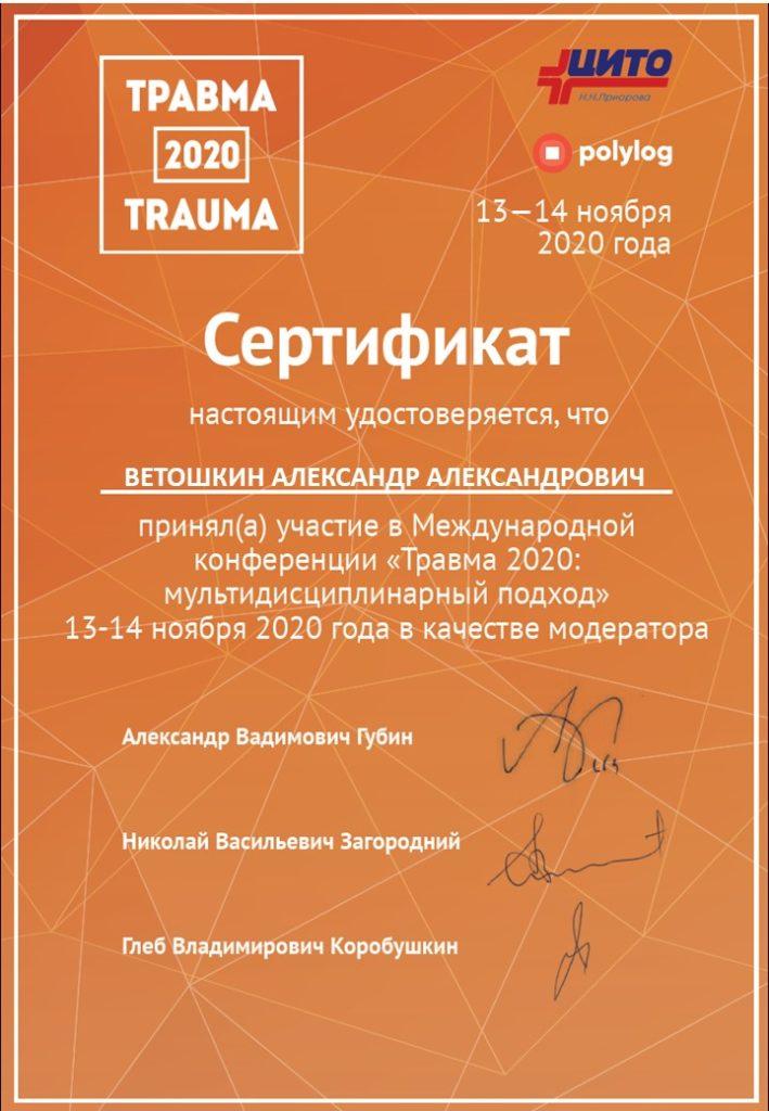 Ветошкин АА сертификат модератора