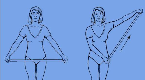 Упражнения с палкой Отведение